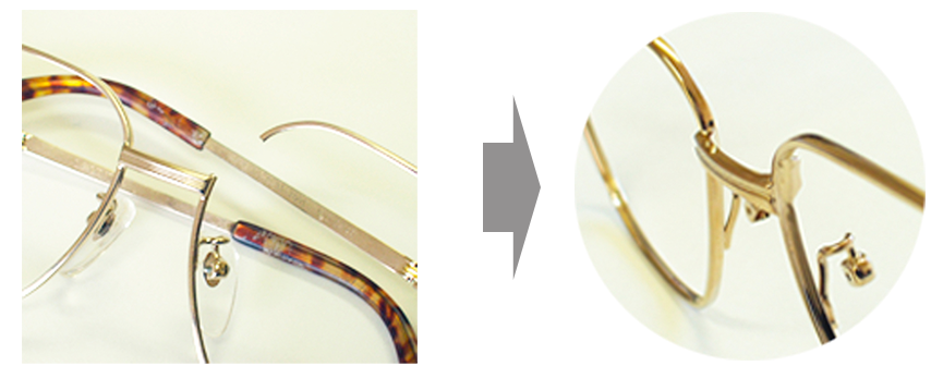メガネの修理を承ります